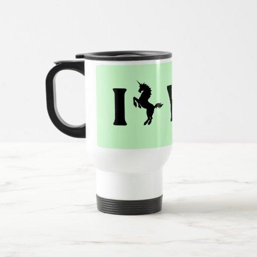 I Unicorn You (Black) Mugs