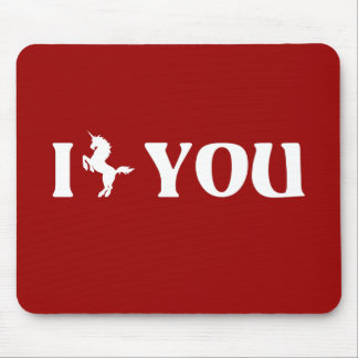 I Unicorn You (White) Mouse Pad