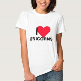 I unicornios del corazón playera