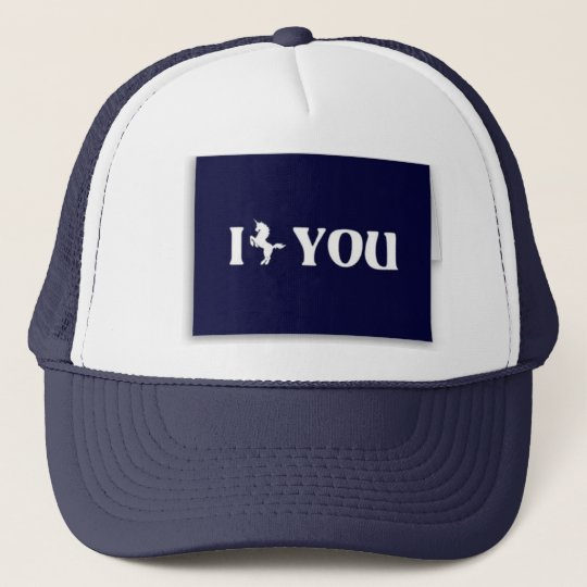 I UNICRON YOU <3 TRUCKER HAT