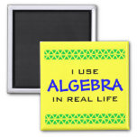 I USE ALGEBRA IN REAL LIFE 2 INCH SQUARE MAGNET