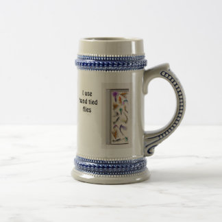 I use hand tied flies beer stein