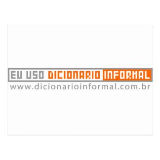 I use informal Dictionary Postcard