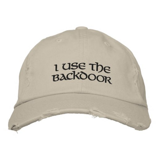 I use the Backdoor Embroidered Baseball Hat
