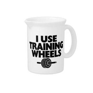 I Use Training Wheels Drink Pitcher