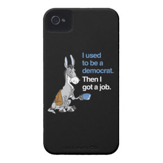 I USED TO BE A DEMOCRAT, THEN I GOT A JOB.png iPhone 4 Covers