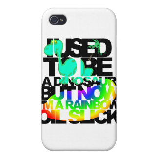 I used to be a dinosaur but now I'm an oil slick iPhone 4/4S Case