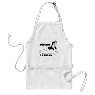 I USED TO BE A TOMBOY ADULT APRON