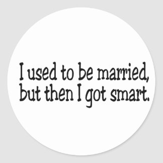 I Used To Be Married Classic Round Sticker