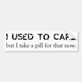 I Used To Care Bumper Sticker