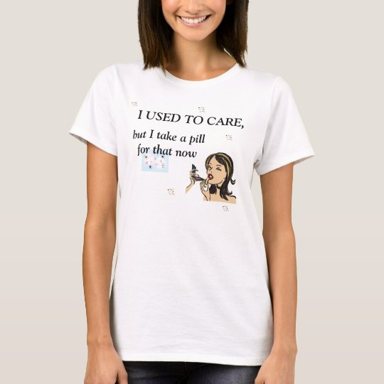 I Used to Care Retro T-Shirt