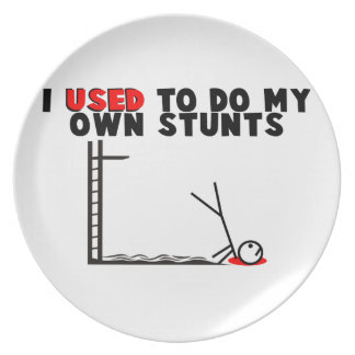 I Used To Do My Own Stunts Dinner Plate