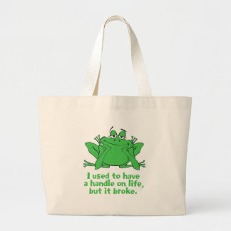 I Used to Have a Handle on Life Large Tote Bag