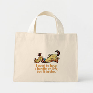 I Used to Have a Handle on Life Mini Tote Bag