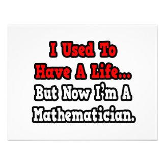 I Used to Have a Life...Mathematician Custom Invites