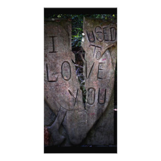 I Used to Love You - Tree Carving Card