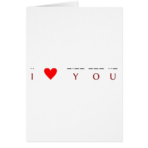 ♥ I usted ·· ♥ -·-- --- ··- Tarjeta De Felicitación