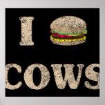 I vacas de la hamburguesa impresiones