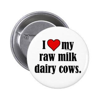 I vacas del corazón pin redondo de 2 pulgadas