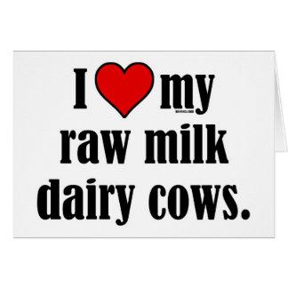 I vacas del corazón tarjeta de felicitación