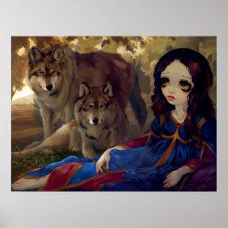 I Vampiri:  I Lupi ART PRINT gothic vampire wolf