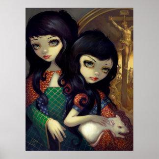 I Vampiri La Sorelle ART PRINT vampire sisters rat