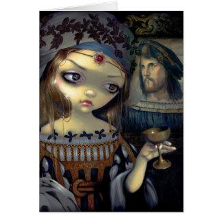 """I Vampiri:  Lucrezia Borgia"" Greeting Card"
