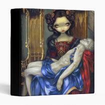 artsprojekt, art, fantasy, eye, eyes, vampire, vampiri, baroque, renaissance, venice, venezia, italy, italian, dark, vampires, pietà, pieta, throne, skull, michelangelo pity statue fangs, vampire art, blood, rennaissance, europe, european, rome, corset, dress, red, black, doll, vampire painting, vampire picture, big eye, big eyed, jasmine, becket-griffith, becket, griffith, jasmine becket-griffith, Fichário com design gráfico personalizado