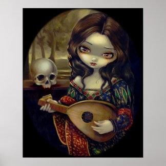 I Vampirie: Il Liuto ART PRINT  Vampire w/ Lute