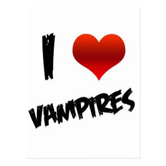 I vampiro del corazón tarjeta postal