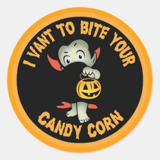 I Vant Corn Classic Round Sticker