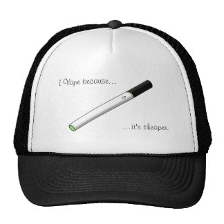 I Vape Because... Green Tipped eCigarette Mesh Hat