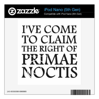 I ve Come To Claim the Right of Primae Noctis Skin For iPod Nano 5G