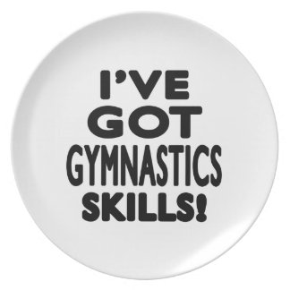 I ve Got Gymnastics Skills Dinner Plates