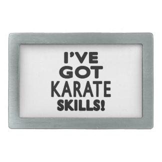 I ve Got Karate Skills Rectangular Belt Buckles