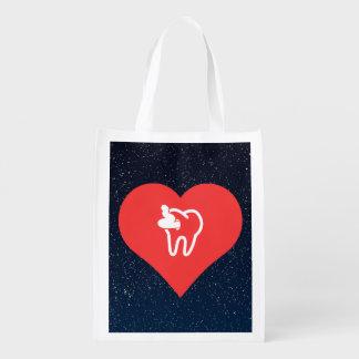 I vector de la caries del corazón bolsas de la compra