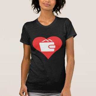 I vector de las carteras del corazón camiseta