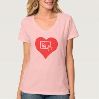 I vector de las imágenes del corazón camisetas