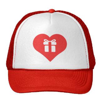 I vector de los regalos de la abertura del corazón gorros bordados