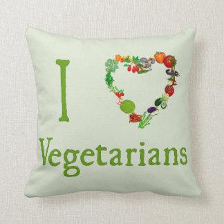 I vegetarianos del corazón almohada