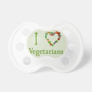 I vegetarianos del corazón chupete de bebe