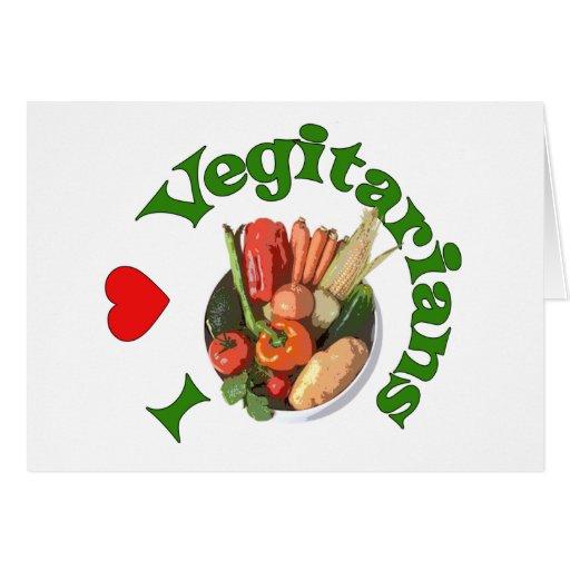 I vegetarianos del corazón felicitaciones