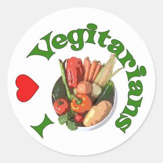I vegetarianos del corazón pegatinas