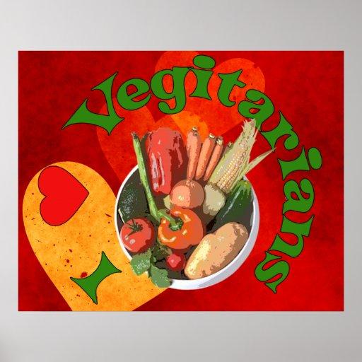 I vegetarianos del corazón póster