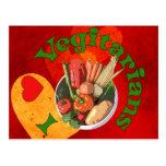 I vegetarianos del corazón tarjetas postales