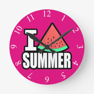 I verano del corazón reloj redondo mediano
