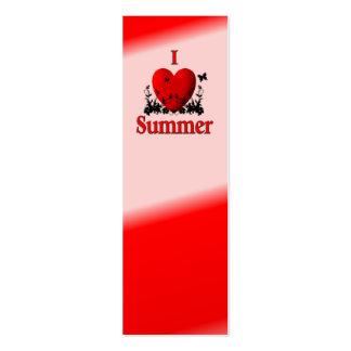 I verano del corazón plantillas de tarjetas de visita