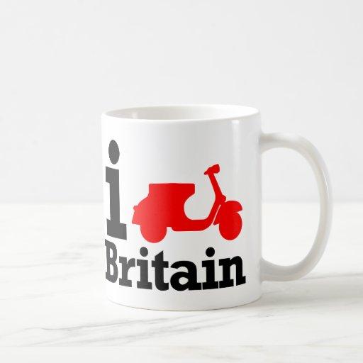 I vespa Gran Bretaña Taza Básica Blanca