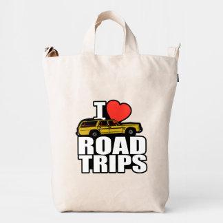 I viajes por carretera del corazón bolsa de lona duck