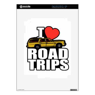 I viajes por carretera del corazón calcomanías para iPad 2